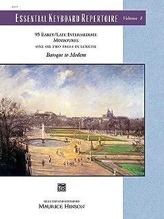 Essential Keyboard Repertoire, Vol 8: Miniatures, Comb Bound Book (Alfred Masterwork Edition: Essential Keyboard Repertoire)
