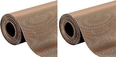 Kuber Industries 2 Pieces Multipurpose Diamond Textured Super Strong Anti-Slip Mat Liner,Size 45X150 cm (1.50 Meter Roll, Beige) - CTKTC045479