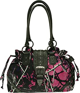 Muddy Girl Drawstring Bling Buckle Handbag