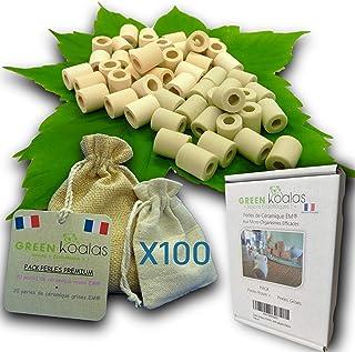 Green Koalas X100 Perles de Céramique EM® Roses X50 + Grises X50 Pack Purificateur Naturel Filtration Eau du Robinet Caraf...