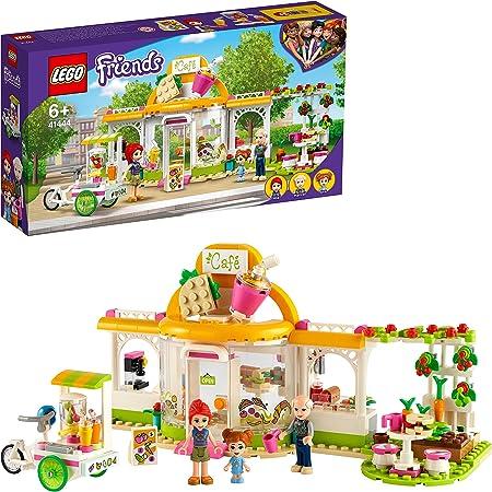 LEGO Friends 41444 LeCaféBiodeHeartlakeCity avec 3 Mini Poupées, Jeu Educatif pour Enfant de 6 Ans et Plus