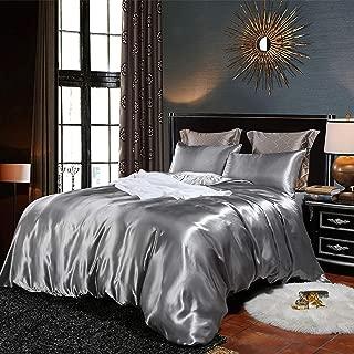 EastElegant Silk Like Duvet Cover Set 3 Pieces Bedding Duvet Cover and Pillow Shams King Size