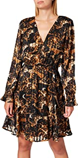 Scotch & Soda Printed Long-Sleeved Mini-Dress in Recycled Polyester Robe Femme