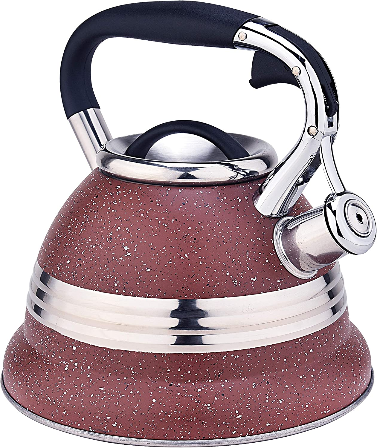 ARC Brown Easy-to-use with Stainless Steel Max 47% OFF Design Kettle Tea Food Stove Top