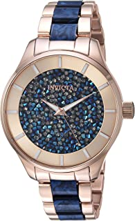 Invicta Women's 'Angel' Quartz Stainless Steel Casual Watch, Color Two Tone (Model: 24662)