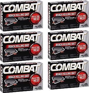 Combat Roach Killing Bait, Large Roach Bait Station, 8 Count (Pack of 6)