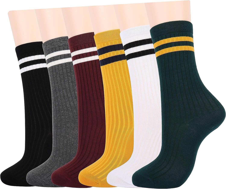 LAVIDENCE Women's Girl's Crew Socks Cotton Socks Casual Socks Low Cut Socks Ankel Socks No Show Socks
