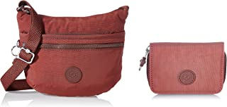 Kipling Damen Arto S Crossbody Taschen, Einheitsgröße, Rot - Dusty Carmine - Größe: One Size Damen Tops Geldbörsen, One Si...