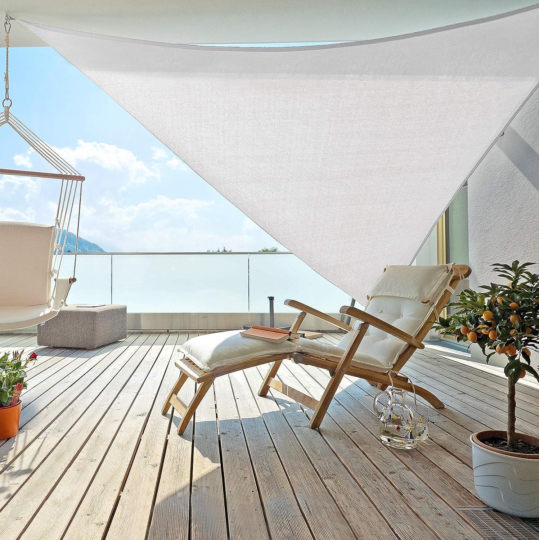 Windhager Sunsail ADRIA Dreieck Weiß, Sonnensegel, Sonnenschutz ...