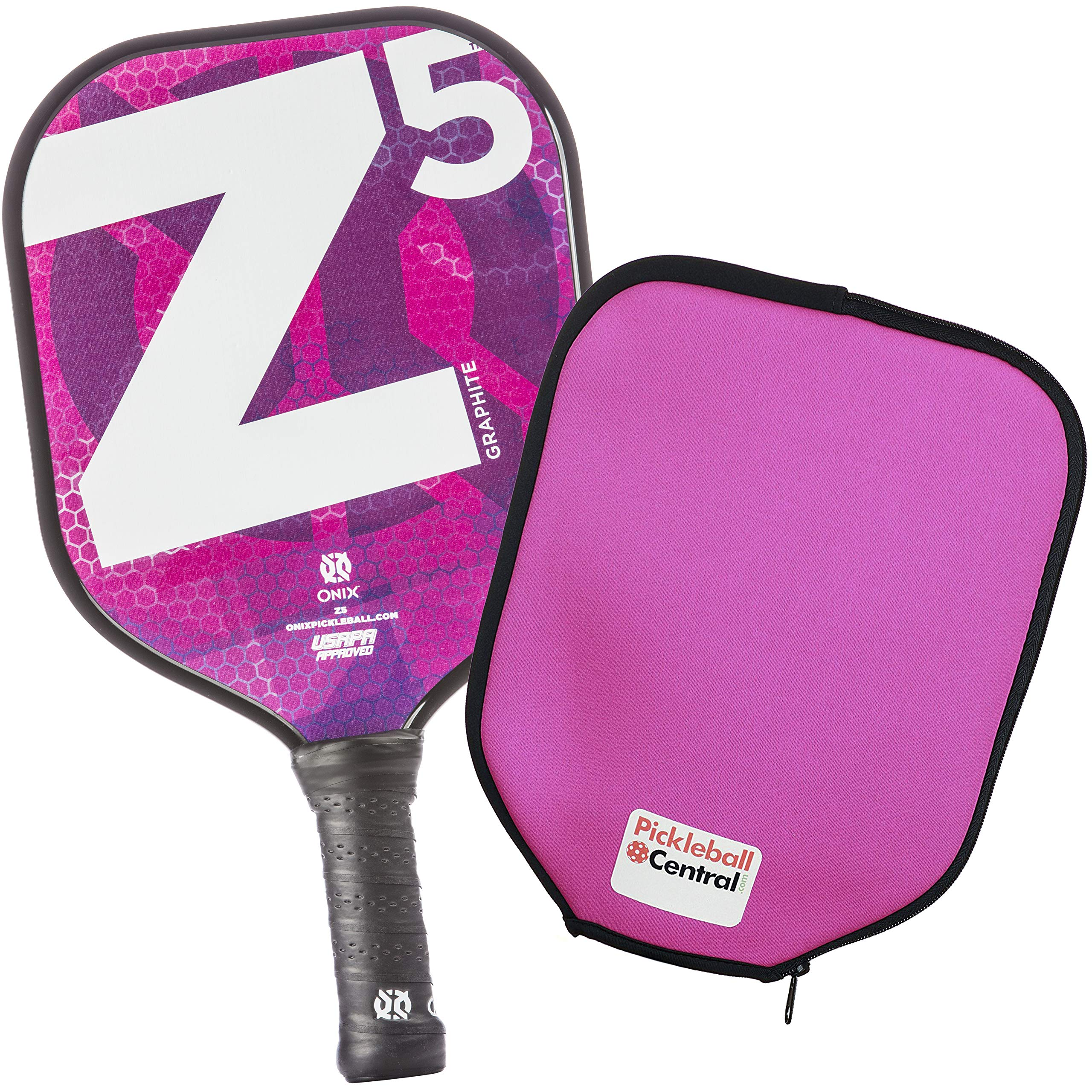 Onix Z5 Graphite Pickleball Paddle and Paddle Cover -NM6R