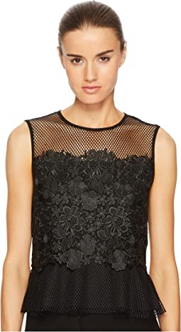 Sportmax - Nero Sleeveless Floral Top