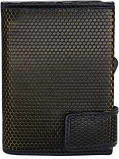 SecWal Tarjetero con bolsillo para monedas., Matrix negro y amarillo. (Negro) - SW1