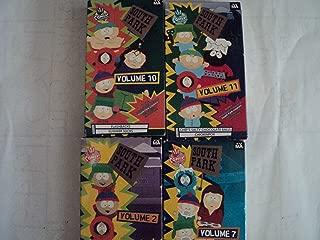 South Park 4 Pack VHS Movies: Volume 10: Flashback & Summer Sucks, Volume 11: Chef's Salty Chocolate Balls & Chickenpox, Volume 2: Weight Gain 4000 & Big Gay Al's Big Gay Boat Ride, Volume 7: Cartman's Mom Is a Dirty Slut & Cartman's Mom Is Still a Dirty Slut