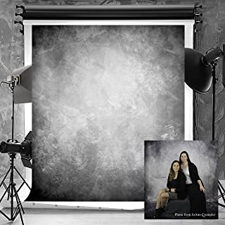 Kate 6.5ft(W) x10ft(H) Texture Photography Backdrops for Photographers Microfiber Seamless No Wrinkle Abstract Black Grey Photo Backdrop Portrait Background