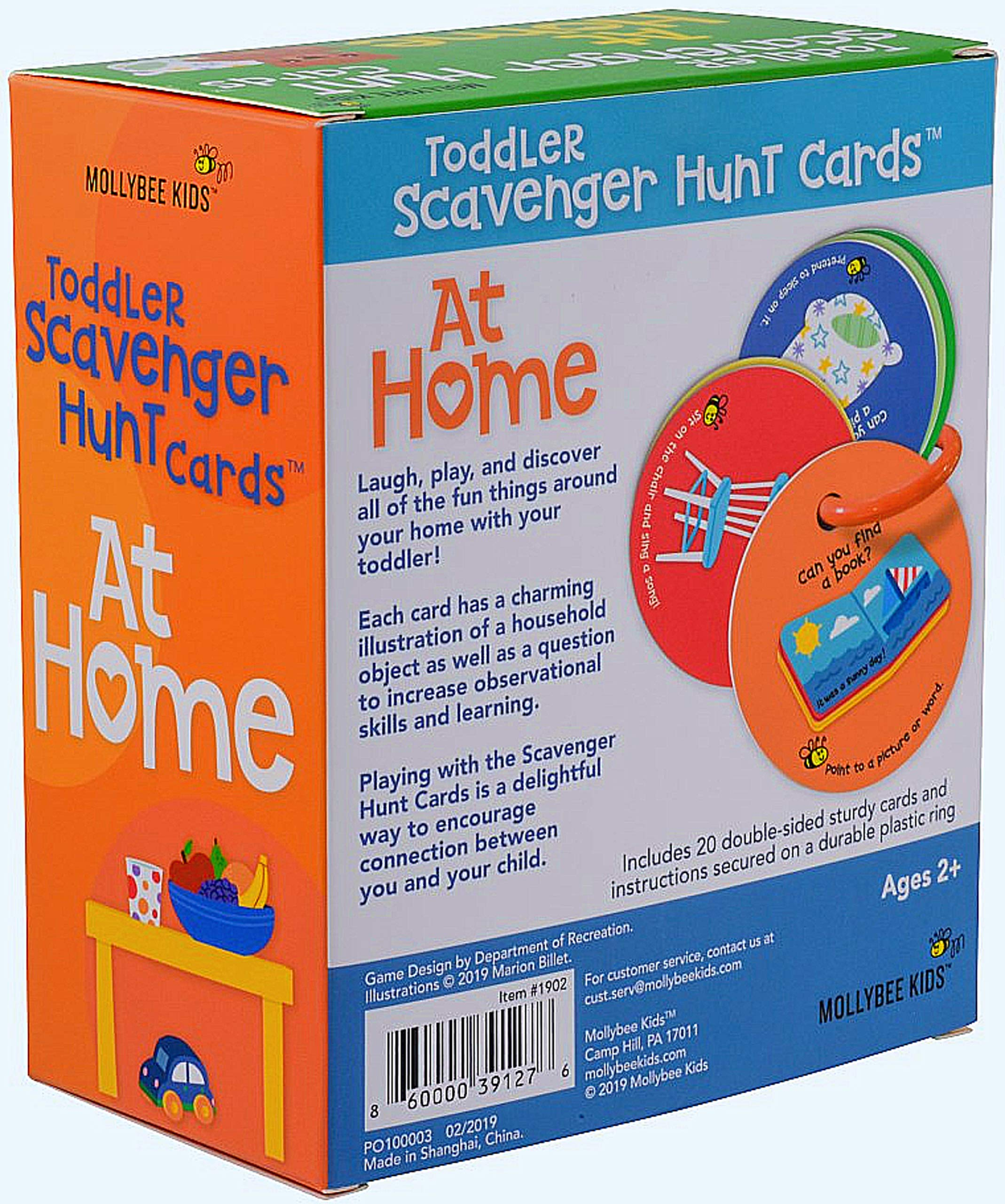 Mollybee Kids Toddler Scavenger Hunt Cooperative Card Game at Home
