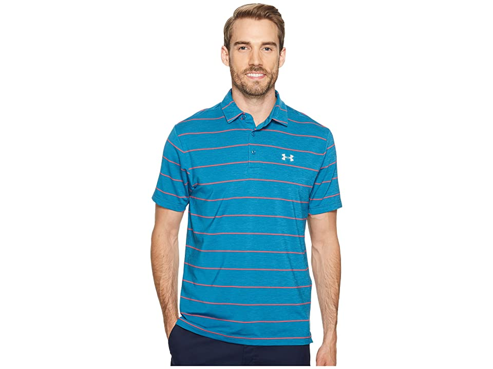 Under Armour Golf UA Playoff Polo (Bayou Blue/Bayou Blue/Overcast Gray) Men