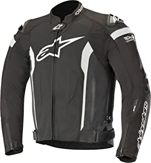 T-Missile Air Textile Motorcycle Jacket for Tech-Air Race Airbag System (XL, Black White)