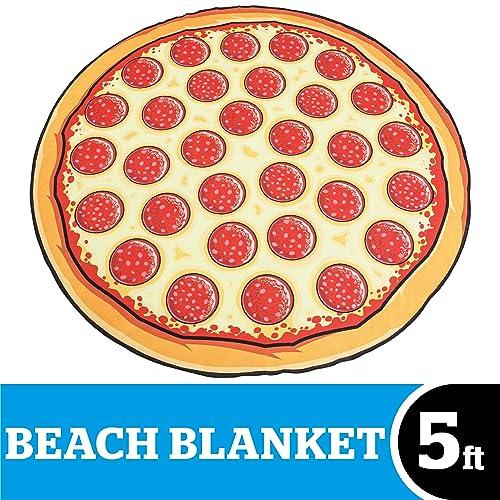 1fe2a58b BigMouth Inc Giant Pizza Beach Blanket, Oversized Beach Towel, Ulta-Soft  Microfiber Towel