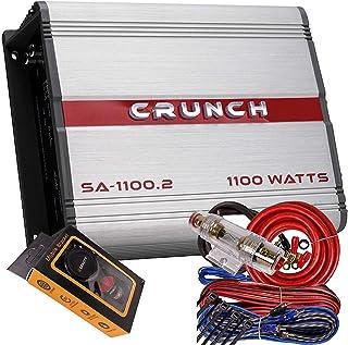 $67 » Crunch SA-1100.2 Smash Series 1,100-Watt 2-Channel Class AB Amp Car Audio Sound System Subwoofer Speaker Amp Amplifier wit...