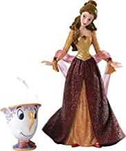 Enesco Disney Showcase Beauty and the Beast Christmas Belle Figurine and Chip Ornament