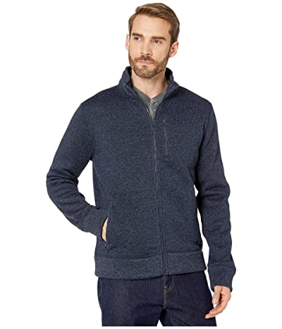 Lucky Brand Los Feliz Fleece Full Zip Mock Neck Jacket (Navy) Men