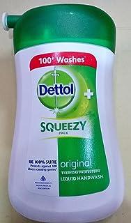 Dettol Squeezy Pack Liquid Handwash, 100ml - 100 Washes (Brown)