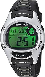 ساعة Viva Time للرجال 2703M Timetech LCD رقمية كوارتز يابانية سوداء