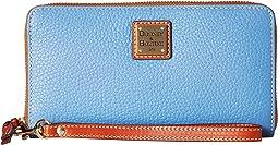 Dooney & Bourke Pebble Leather Large Zip Around Wristlet