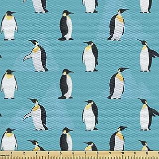 Black /& White Penguins Childrens Fabric Cotton Craft Fabric Material Metre