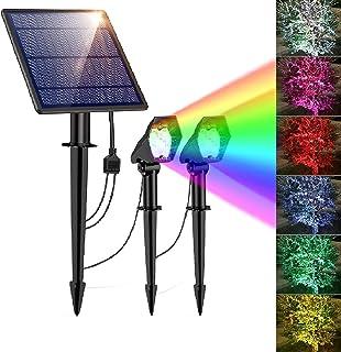 Solar Lights Outdoor, Solar Landscape spotlights 10 LED Solar Lights, 2-in-1 Waterproof Adjustable Solar Powered Wall Ligh...