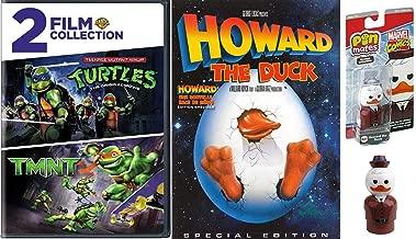 Duck Turtles! Howard The Duck (Special Edition) Marvel Comics DVD & Wood Mini Figure + Teenage Mutant Ninja Turtles Original Movie & TMNT Double Feature Heroes