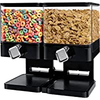 Zevro KCH-06134 Compact Dry Dual Control Food Dispenser (Black/Chrome)