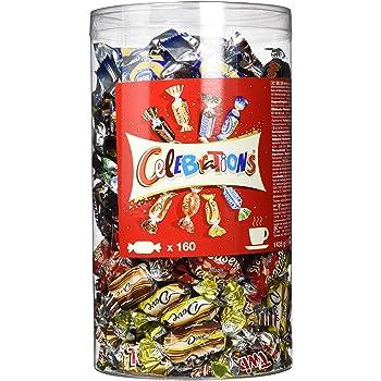 Celebrations Blisterbox   Mini-Schokoriegel Mix   160 Pralinen in einer Box (1 x 1,4 kg)