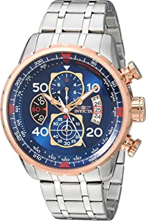 Invicta Men s 17203 AVIATOR Stainless Steel and 18k Rose Gold Ion-Plated  Watch 4549786f05a