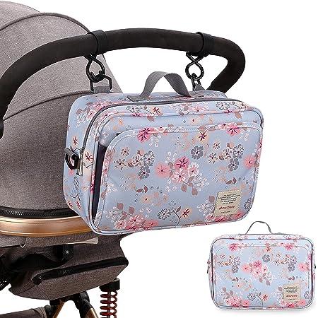 SMOP-スモップ- すっきりまとまるおむつポーチ (アンティーク花柄) 取り出しポケット付き おむつポーチ おむつバッグ ベビーカーバッグ 可愛い 赤ちゃん