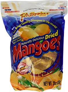Philippine Brand Naturally Delicious Dried Mangoes Tree Ripened 30 Ounces - Pack of 2