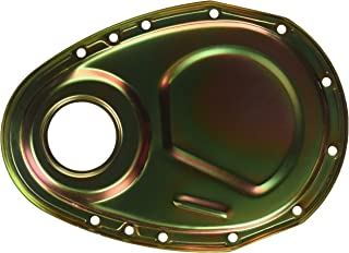 Milodon 65501 Gold Zinc Plated Timing Cover for Small Block Chevy