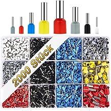 BAURIX ® Assortiment adereindhulzen, geïsoleerde hulzen volgens DIN gesorteerd, 0,5 mm² - 10 mm² I professionele isolatieh...