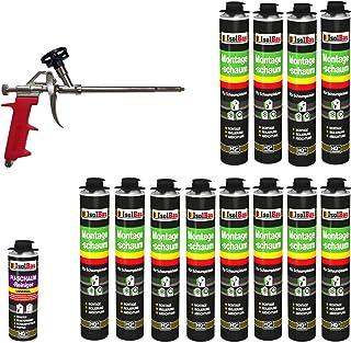 Set pistola de espuma 12latas 750ml Espuma de montaje 1K Diseño Espuma de espuma de poliuretano + 1limpiador + 1pistola de espuma