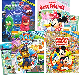 Disney Look and Find Books Set Kids Toddlers 2-4 ~ Set of 4 Look and Find Activity Books Featuring Paw Patrol, Minnie Mous...