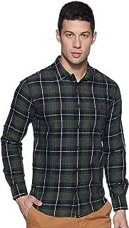 Mufti Men's Checkered Slim Fit Casual Shirt (MFS-9100-G-16-BLUE_16-Blue_XXXL)