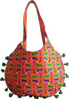 Gujarati Traditional shoulder bag,women's Trandy purse,Kutch Traditional green pom pom work jhola bag,kutchi wedding purse,fashion wear side bag,New year special Gift
