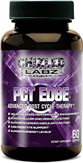 PCT EDGE: Advance Post Cycle Therapy Supplement. Powerful Cycle Recovery & Added Organ Support. Includes NAC, Milk Thistle, Tibullus, Fenugreek and More! Fight Estrogen and Keep your Gains 60 Servings