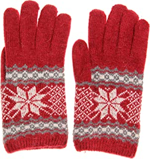 Accessory Necessary AN1225 Women's Winter Warm Snowflake Gloves