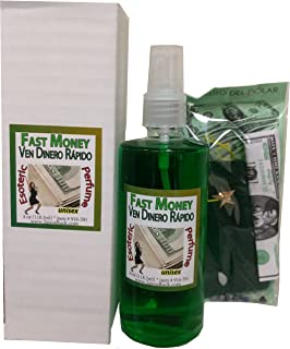 Fast Money Perfume w/Pheromones & Amulet for Rituals & Magic - Perfume Con Feromonas & Amuleto, Ven Dinero Rápido, Para Rituales Y Magia.