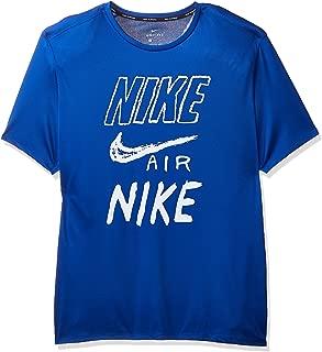 Nike Men's BRTHE Run Top SS GX, Silver(Indigo Force/White/Reflective Silv438), 2X-Large