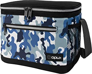 OPUX Lunch Box For Men, Insulated Lunch Bag Women, Shoulder Strap, Side Pockets | Soft Leakproof Lunch Pail for Boys, Kid...