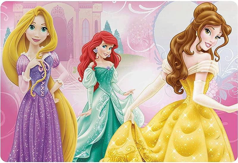 Zak Design Disney Princess Kids Meal Time Plastic Placemat Featuring Rapunzel Ariel Belle Makes Clean Up A Breeze