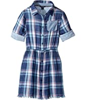 Tommy Hilfiger Kids - Yarn-Dye Plaid Shirtdress (Big Kids)