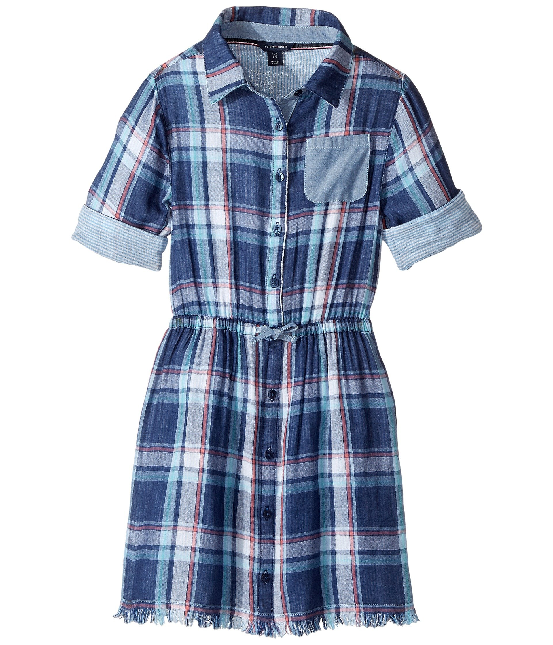 Vestido para Niña Tommy Hilfiger Kids Yarn-Dye Plaid Shirtdress (Big Kids)  + Tommy Hilfiger en VeoyCompro.net